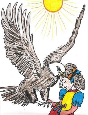 A águia e a bela menina