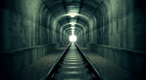 As luzes dos túneis